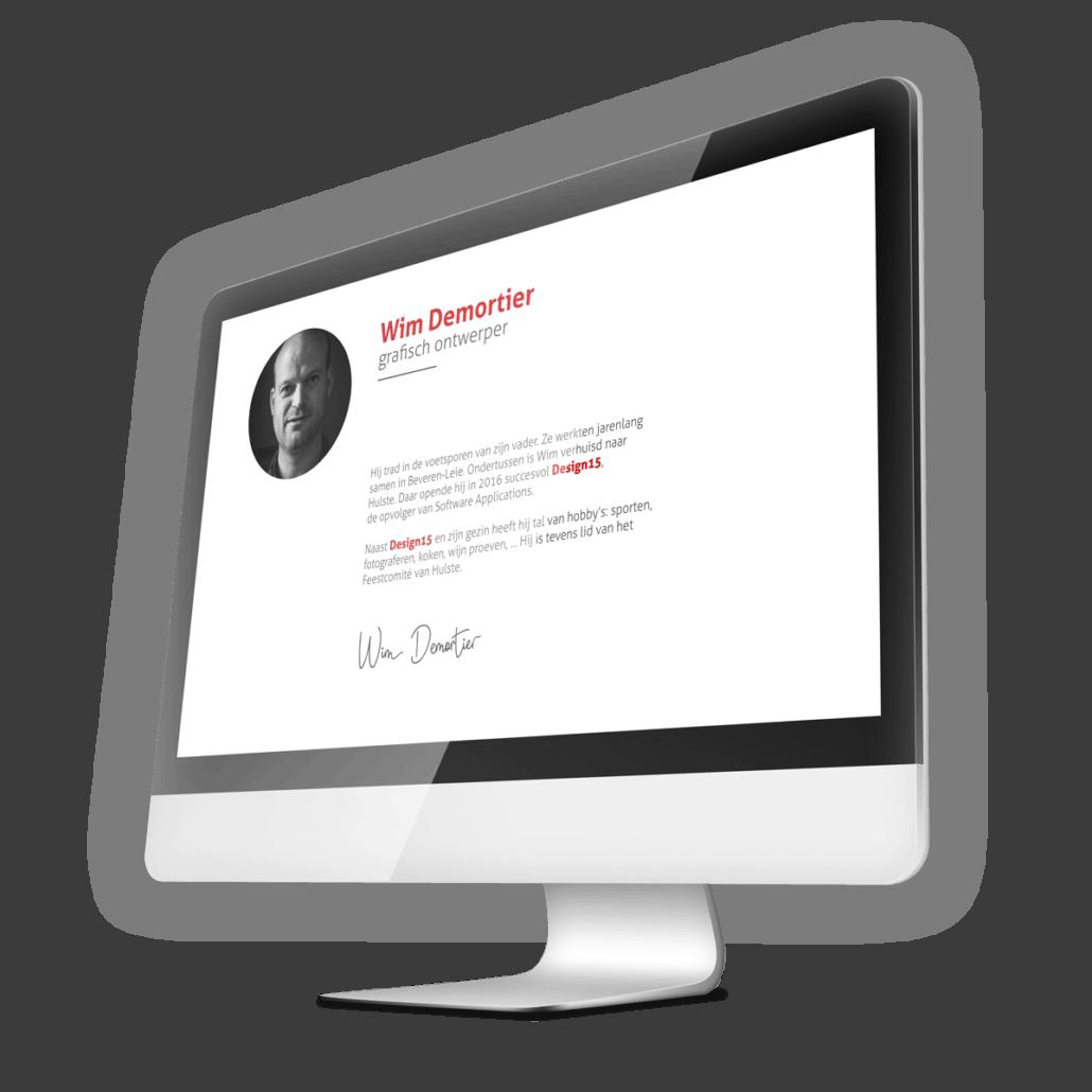 Wim Demortier - Design15 - Grafisch ontwerpbureau