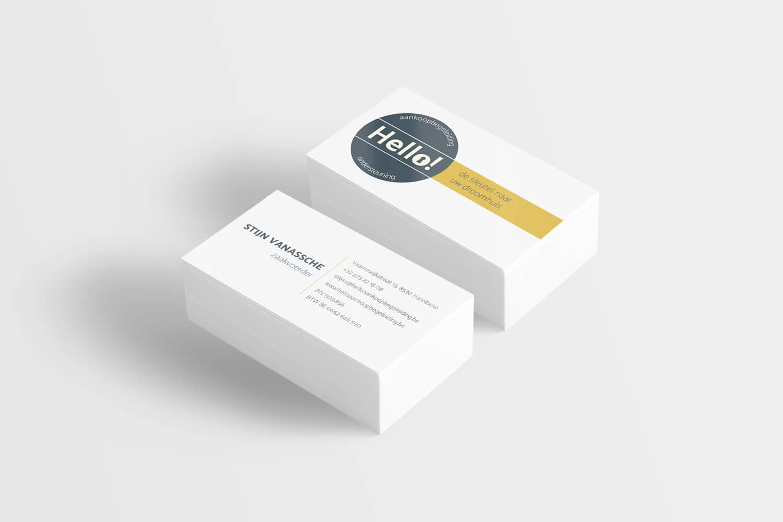 Firmakaart Hello Aankoopbegeleiding - design15