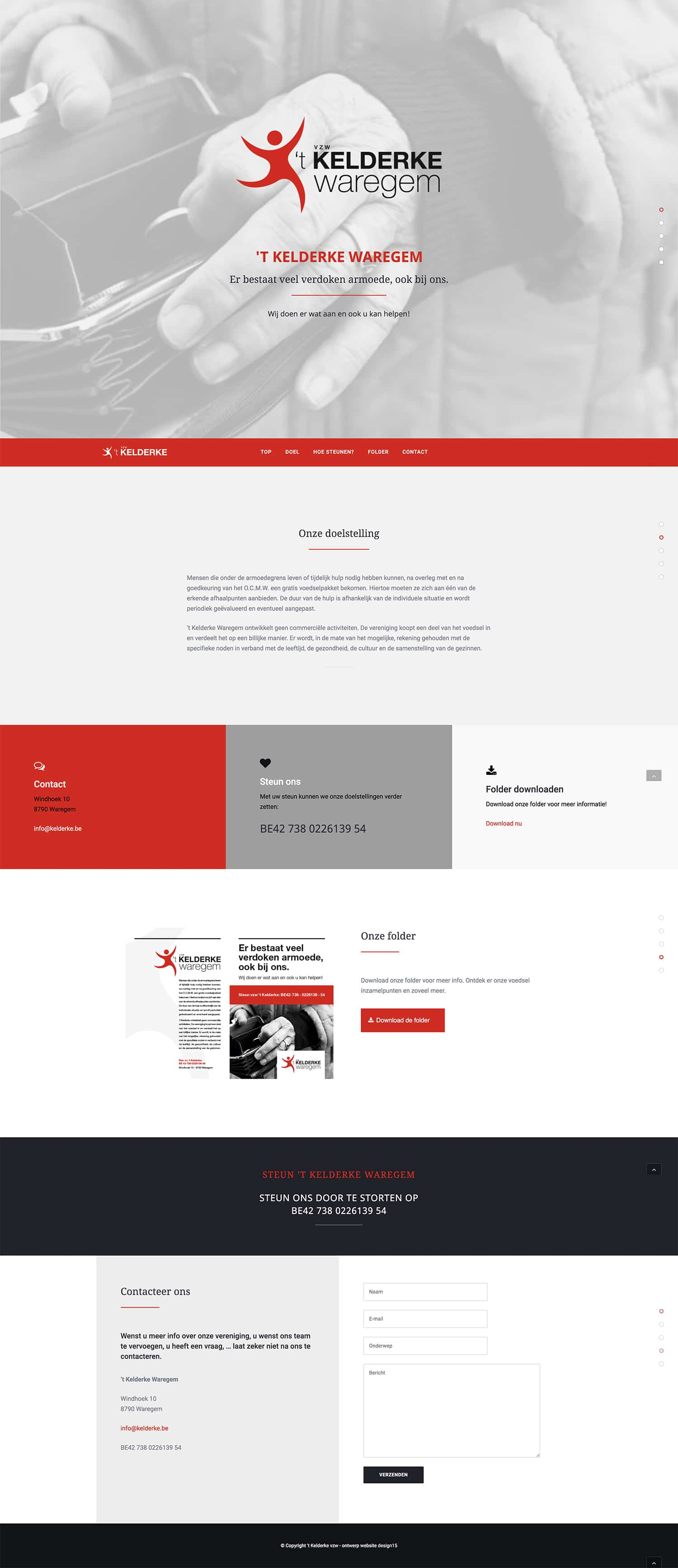 One page website 't Kelderke | design15