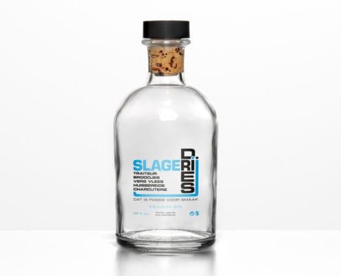 Transparante etiketten op rol met witprint | design15