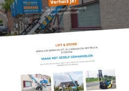 Lift & Store wordpress cms website